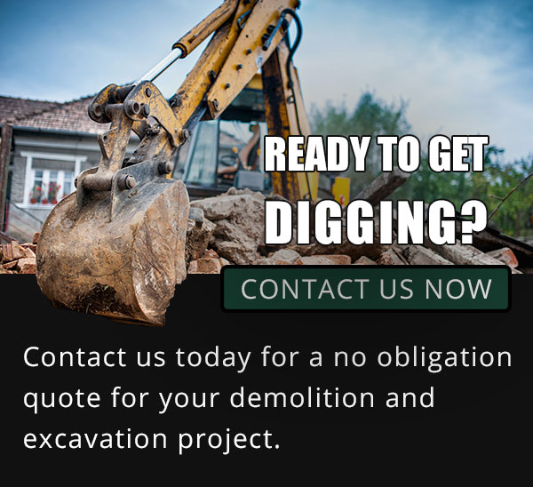 Excavation equipment picks up material