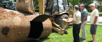 The team at Mikula can remove your underground oil tank and replace it with a new one.